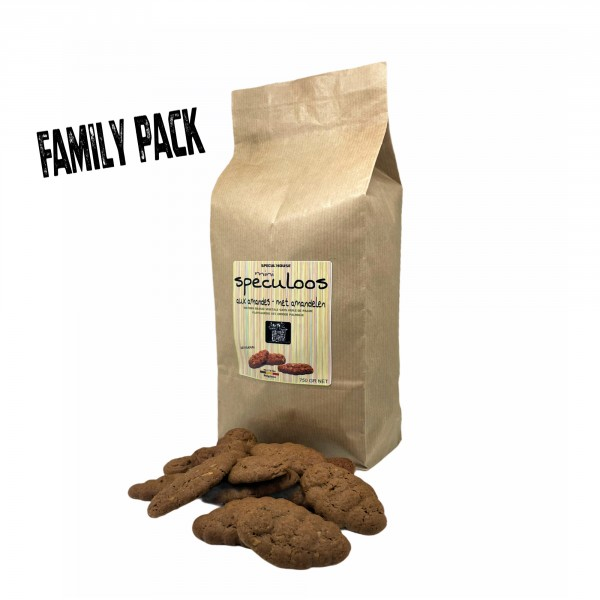 Mini almonds speculoos - 750 GR NET (Belgian spicy biscuits)